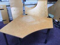 Kinnarps small curved corner desk