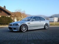 BMW 19 inch CSL Silver alloys STAGGERED REAR CONCAVED 5x120