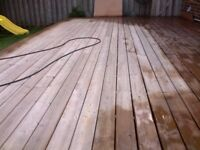 Deck and fence staining.
