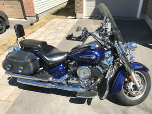 Galaxy Blue 2009 Yamaha V Star 1100 Silverado