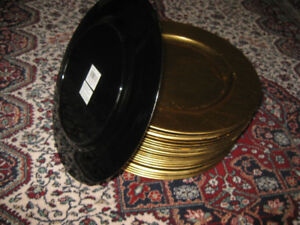 "24  Gold Charger/Plates 13""  Best Quality-For a special occasion"