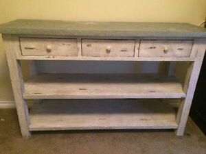 Rustic Shelf with Drawers