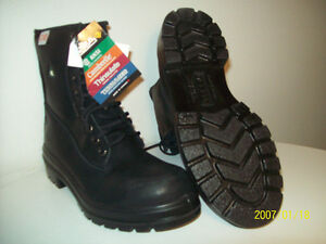 WORK BOOTS NEW TERRA WiLDSiDE CERTiFiED STEEL-TOE BOOTS Sz 8.5