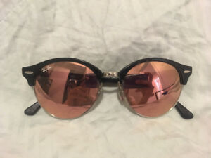 Ray Ban Sunglasses Round Rose Gold Clubmaster