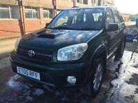 Bargain Toyota RAV4 d-4d diesel full years MOT no advisories, FSH