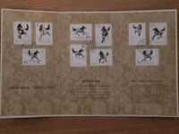 TIMBRES CHINA STAMP SET 1978 GALLOPING HORSE, WILDLIFE, WIL