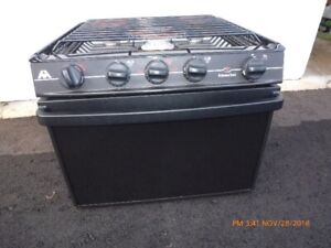 Atwood 3 burner propane RV stove with oven