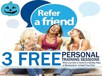 3 FREE PERSONAL TRAINING SESSIONS PROMOTION