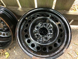 2 sets of steel rims 15 inch 5 bolt