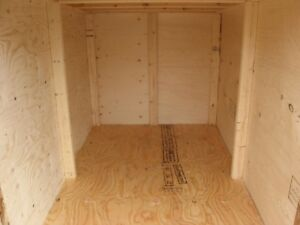 plywood snowblower shed