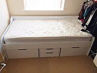 Great Single Bed,( Day Bed )with storage compartments and mattress for sale