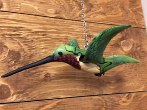 Hummingbird handmade carved wooden puzzle