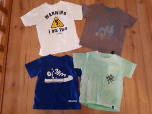 18 mth - 2T : Lot of 4 T-shirts Converse, Hurley, DKNY, 'I am 2'