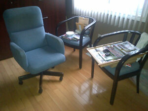 3 Matching chairs for your office at home or work.