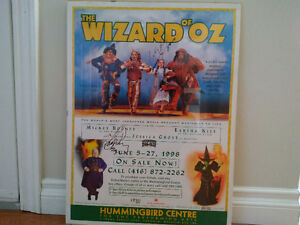 Autographed Wizard of Oz Poster