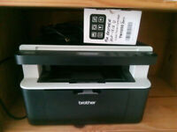 PRINTER Scanner (BW Laser) Brother DCP-1512 with 2 x toner.
