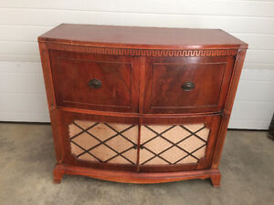 Antique 1940s Stereo Cabinet (electronics removed)