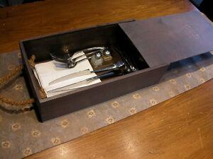 Boîte de Rangement en Bois/Wooden Storage Box