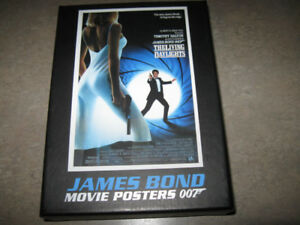 Box of 9 James Bond/007 Movie Poster Note Cards in Box + game
