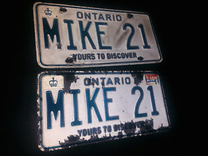 Personalized license plate Mike21