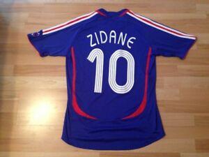 Adidas Team France #10 Zinedine Zidane Soccer Jersey Size M