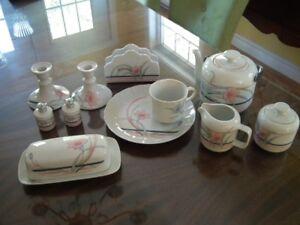 Set de vaisselle pour dessert en porcelaine fine