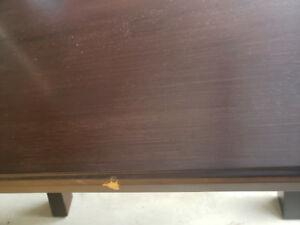 Kitchen table bench And 2 chairs