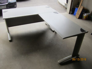 Heavy Duty Steel Office Desk with cabinet