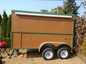 12x6x8 home-built trailer dual axels, double walled & insulated