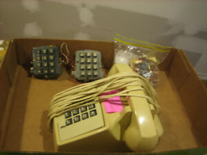 Vintage touch tone phone and touch tone keypad parts