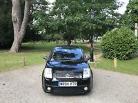 2004 Citroen C2 1.6i 16v VTR Auto Senso Drive 3 Door Hatchback Black