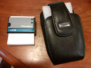 Black Berry Curve batteries and leather case