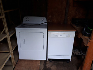 LIKE NEW!!! Dryer and portable dish washer!