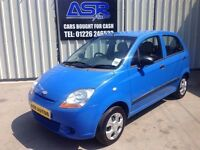 08 Chevrolet Matiz 0.8 S 5dr - MOT MAY - 76k - Only £30 Road Tax - Free Service - PX WELCOME