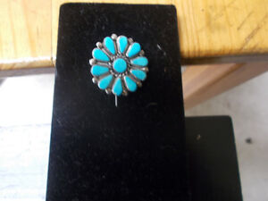 vintage brooch with turquoise