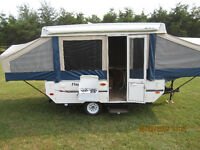 10 FOOT FLAGSTAFF HARD TOP TRAILER, WITH ATTACHED TENT