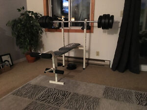 Bench Press bar and free weights - $200 OBO