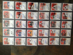 Lot 30 cartes hockey Score Hot Rookies Signatures  Belles cartes