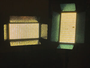 2 x 500 LED Light Panels (Bi-colour & dimmable)