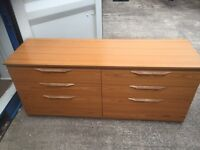 Very large set of double chest of drawers