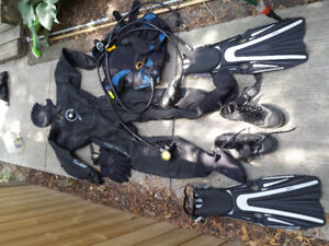SCUBA diving gear, incl drysuit