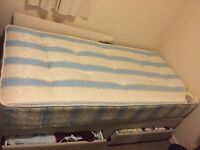 Single bed with brand new mattress