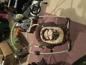 Baby swing and bouncer