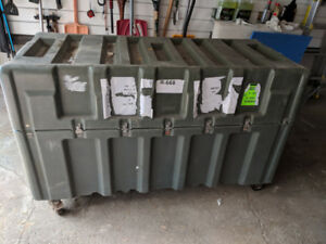 Military style carriage box, container on wheels, waterproof