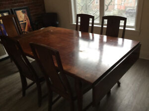 Solid wood kitchen table and chairs