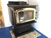 Regency wood stove model F1100S excellent.