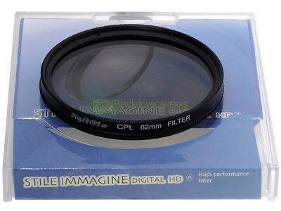 62mm. filtro Polarizzatore circolare. Circular polarizer filter.