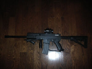 Tippmann A5 paintball gun and upgrades (Includes free add-ons)