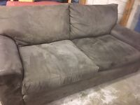 Lovely suede sofa