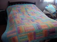 Hand quilted 77 X 90 inch quilt